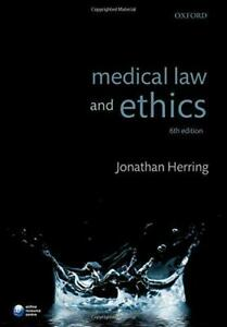 Medical Law and Ethics, Herring, Jonathan, Good Condition Book, ISBN 97801987476