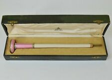 Beautiful Sterling and Guilloche Handle Pink Lenoir Rue Royale