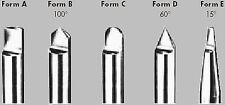 Buril Forma D 60° Punta 6,0 X 63mm HSSE