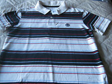 RRP£59 MENS TIMBERLAND POLO SHIRT SIZE SMALL RED WHITE & BLUE - NEW WITH TAGS