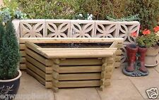 FLAT BACK WOODEN 25 GALLON POND WITH LINER & PUMP RAISED FISH POOL WATER FEATURE