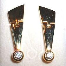 elegante Gold Ohrringe / Ohrhänger Gelbgold 375 / 9 kt