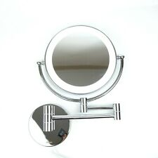 DOWRY Wall Mounted LED Lighted Vanity Makeup Mirror with 10x Magnification
