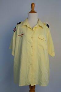 Boy Scouts Of America Official Blouse Shirt Uniform Womens sz 40 (Large?) Yellow