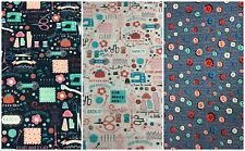 "SEW! BEAUTIFUL Sewing Buttons 100% Cotton Fabric Craft Boys Kids 45"" Width"
