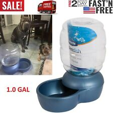 Pet Water Fountain Cat Dog Automatic Waterer Dish Bowl Feeder Dispenser 1.0Gal