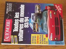 $$$ Revue L'automobile magazine HS N°16 Toutes les voitures du monde 93/94