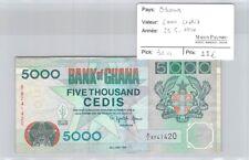 BILLET GHANA - 5000 CEDIS - 29.6.1994