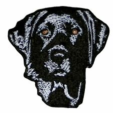 Black Lab Labrador Retriever 100% Embroidered Iron On Patch 3 inch Dog Lover