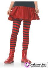 Calzini e collant Collant rossi a fantasia righe per bambine dai 2 ai 16 anni