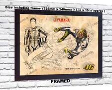 Valentino Rossi no signed da Vinci Sketch Art print patent photo poster FRAMED