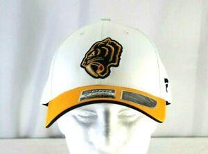 Nashville Predators NHL Yellow White Baseball Cap Stretch Fit L XL
