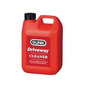 Gunk Driveway Cleaner Oil Stain Remover Garage Floor Paths Patio Cleanse 2 Ltr
