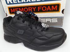 Skechers Felton Slip Resistant Work Comfort Shoes, Men's SZ 9.0 M, Black, 16558