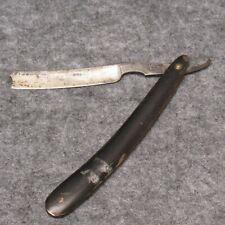 "Wade & Butcher Sheffield 6-3/8"" Straight Razor Horn Handles Narrow Blade Antique"