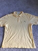 Masters Collection Womens yellow short sleeve  polo 100% pima cotton size 2XL