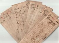 1730s x 10 OLD PRE-STAMP ITALY LETTERS PISA & LIVORNO TO FIRENZE  ITALIAN STATES