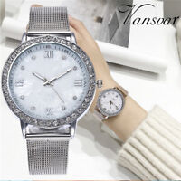 Luxury Women's Crystal Diamonds Stainless Steel Quartz Analog Dial Wrist Watches