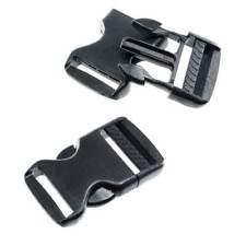 Plastic Buckle Side Release Survival Bracelet Clasps Black 5x7mm Dog Collar