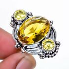 Aaa+++ Citrine Gemstone 925 Sterling Silver Jewelry Ring s.5 M149