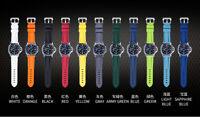 NEW VAGENARI 24mm Caoutchouc Rubber Strap Watch Band for Panerai 44mm