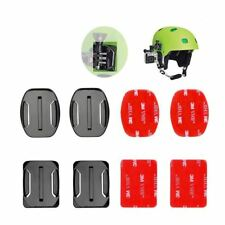 4 pcs Flat Curved Mount Adhesive Sticker for GoPro Hero 5 4 3+ 3 SJCAM Helmet