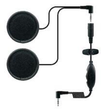 Casco de ciclo de motor escuchar únicamente Auricular Para Icom Radios Motorola Kenwood De 2 Pines