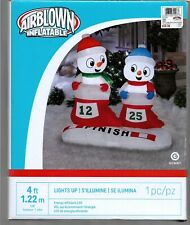 NEW Airblown Inflatable Christmas Snowmen 4ft Lights Up L@@K