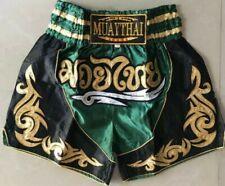 Muay Thai Fight Short Mma Grappling Kick Boxing Trunk Martial Art Green Size Xl