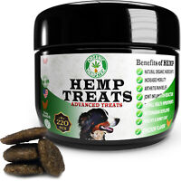 Organic Hemp Dog Treats, Anxiety Relief, Free-Range, Chicken, 220 Soft Chews