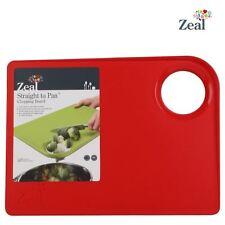"""Cks Zeal """" recto a Pan"""" mediano tabla de cortar antideslizante en rojo"""