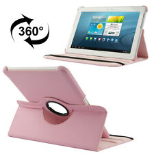 Samsung Galaxy Tab 2 10.1 Luxus Kunst-Leder Tasche Hülle Case Rosa P5100 P5110