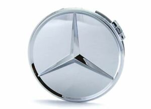 Genuine Mercedes Benz Chromed Raised Star Wheel Center Cap Single NEW 66470207