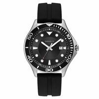 Caravelle Men's Watch Quartz Black Dial Silicone Rubber Strap 43B154