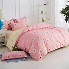 Single Queen King Bed Pillowcase Quilt Duvet Cover Cotton Blend Oaul hy Pink