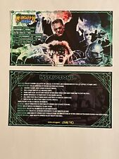 Monster Bash Pinball Game Apron Instruction Cards Bally Williams