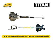 TITAN 25cc 2 Stroke Petrol Power Unit & Multitool Brushcutter Attachment