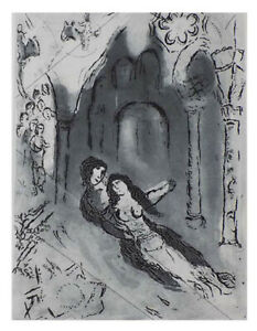 MARC CHAGALL - GRANADA - ORIGINAL ETCHING - CANCELLED PLATE- ARCHES PAPER- 1962