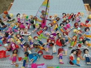 Lego Friends Minifigures, Figures. B .Stephanie, Mia, Matthew ,Andrea Etc