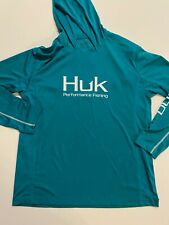 New listing HUK Shirt Men's Large New Icon Hoodie Long Sleeve Green