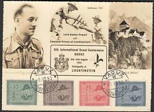 Liechtenstein 1953 International Scout Conference Scout mi.315-18 (22725
