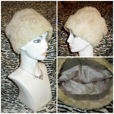 ~ super morbida vintage anni' 60 60s Coniglio Pelliccia Cappello Foderato Taglia 54cm Cappello Invernale ~