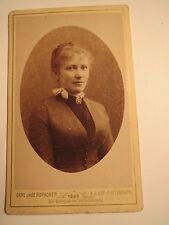 Gmunden - 1888 - Leni Holzleitner ? als Frau mit Zopf - Portrait / CDV