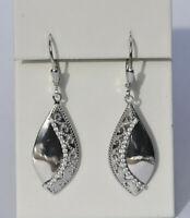 Echt 925 Sterling Silber Ohrringe Zirkonia crystal Ornamente Hochzeit Nr 317