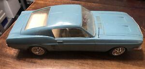 "Wen-Mac 1/12 1967 Blue Mustang 2+2 Fastback 16"" With Antenna B4"