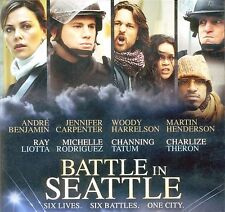 Battle in Seattle 2009 R protest movie, new DVD Charlize Theron, Woody Harrelson