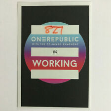 One Republic Working Pass Backstage Sticker Badge Red Rocks 8-27-2019 Uber-Rare!