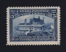 Canada Sc #99 (1908) 5c blue Quebec Tercentenary Mint VF NH