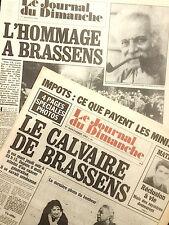 GEORGES BRASSENS - Le Journal du Dimanche - 1er novembre 1981 - bel état