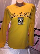Victorias Secret PINK Army Varsity Crew Yellow Small